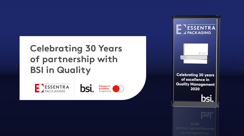 Essentra Packaging Celebrates 30 Years of Quality with BSI